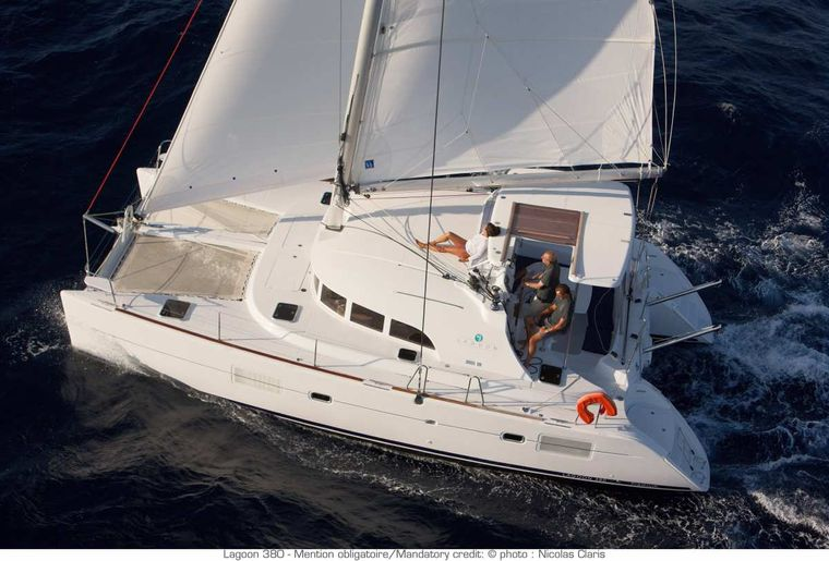 HARMONY Yacht Charter - Aerial view - sailing