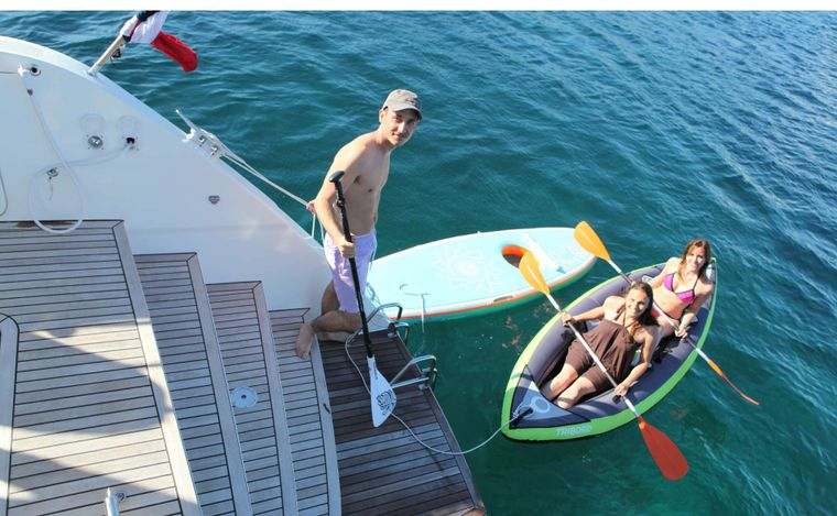 LADY M Yacht Charter - Kayaks for 2!