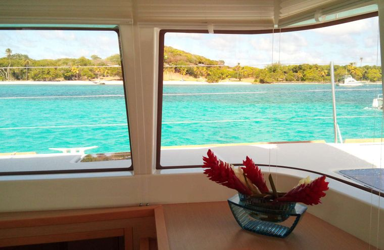 LADY M Yacht Charter - Lady M in Petit St Vincent, Grenadines