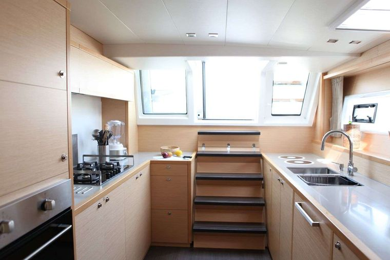 LADY M Yacht Charter - Spacious galley