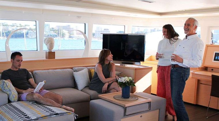 LADY M Yacht Charter - Spacious Salon and Lounge Areas