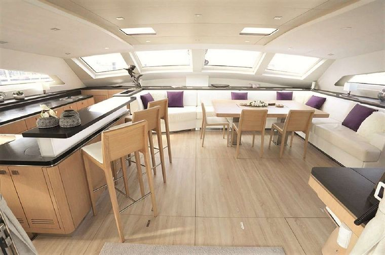 NAMASTE Yacht Charter - The salon other view