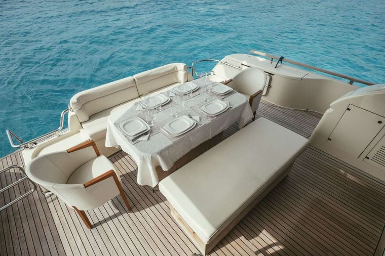 TO ESCAPE Yacht Charter - To Escape - Aft Deck Dining