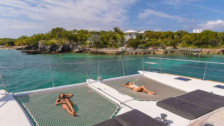 JAN'S FELION Yacht Charter - Lounging on the tramps forward