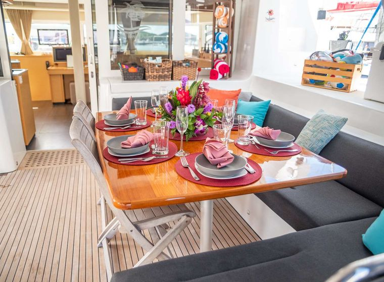 STOP WORK ORDER Yacht Charter - Elegant cockpit area, perfect for al fresco dining and lounging