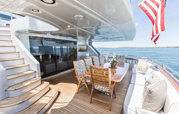 TAIL LIGHTS Yacht Charter - Aft Deck Opposite view