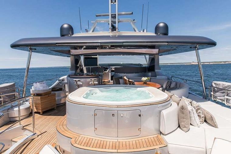 TAIL LIGHTS Yacht Charter - Flybridge Forward View