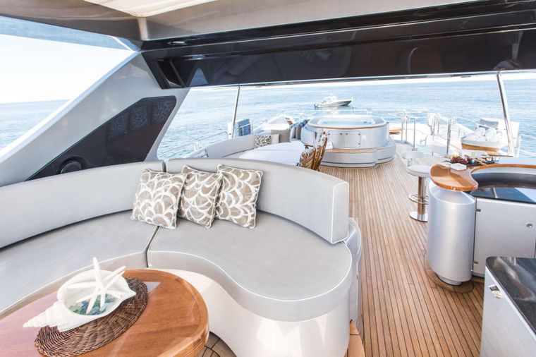 TAIL LIGHTS Yacht Charter - Flybridge Aft View