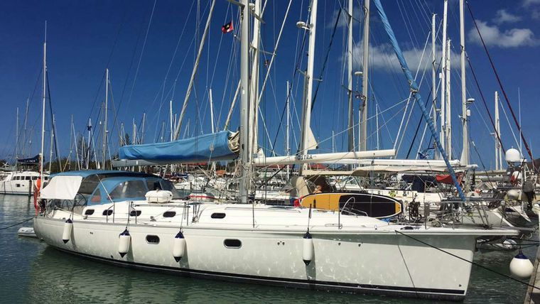 NEMO SY Yacht Charter - Docking in Jolly Harbour, Antigua