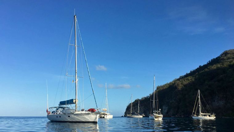 NEMO SY Yacht Charter - Nemo at anchor in Guadeloupe