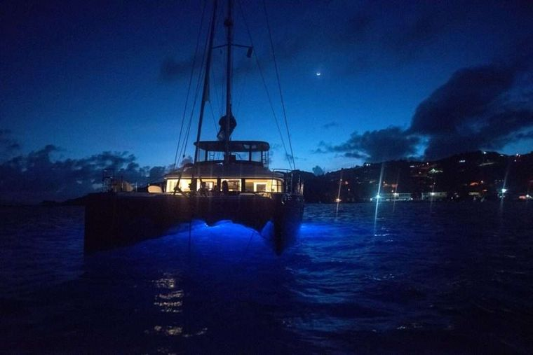 VENTANA Yacht Charter - Ventana at night