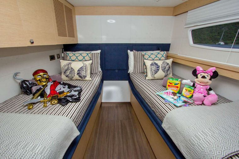 NENNE Yacht Charter - Cabin Conversion for the kids!