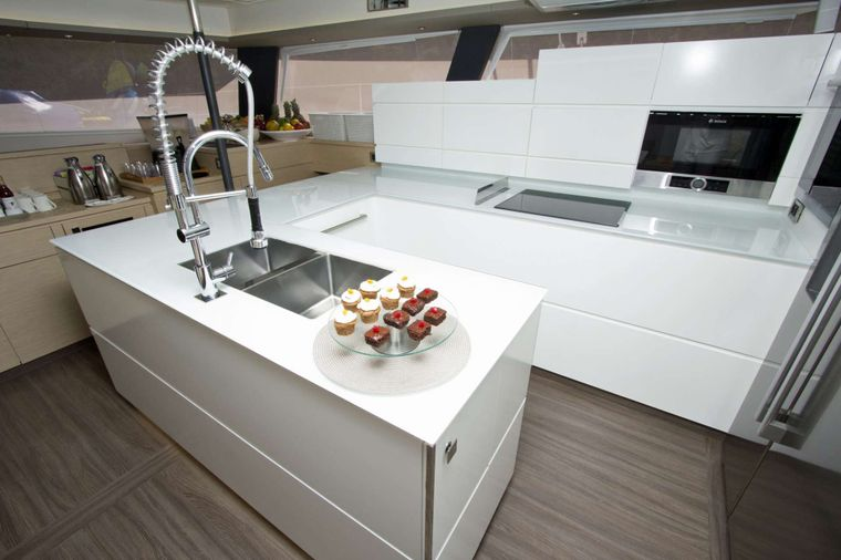 NENNE Yacht Charter - Spacious Galley and Open Plan Lounge