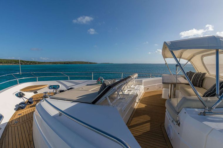 LADY COPE Yacht Charter - Forward Seating w/Shade