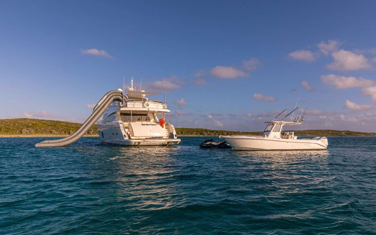 LADY COPE Yacht Charter - Everglades and slide