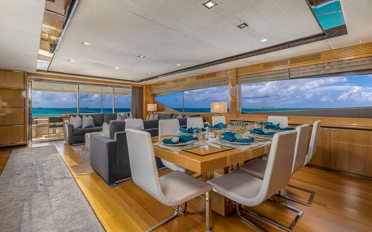LADY COPE Yacht Charter - Formal Dining