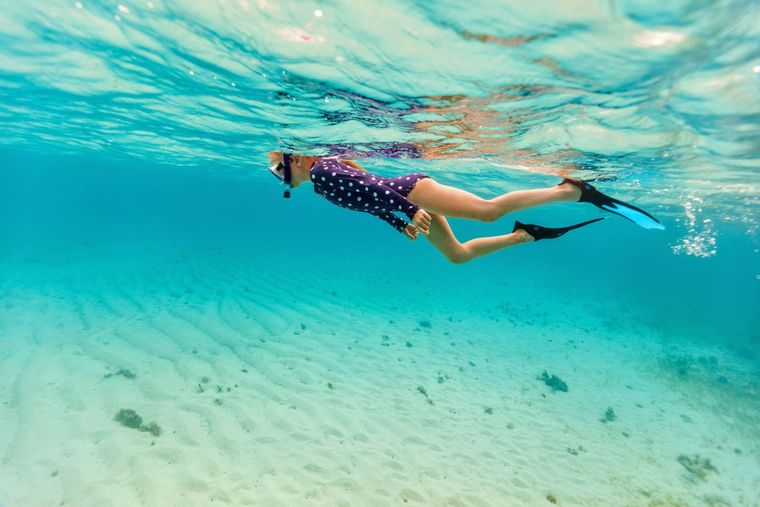 DAUNTLESS Yacht Charter - Snorkeling in Crystal Clear Waters