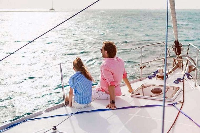 DAUNTLESS Yacht Charter - Enjoying the View from the Bow