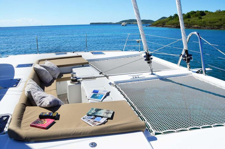 BACCHUS Yacht Charter - front deck saloon
