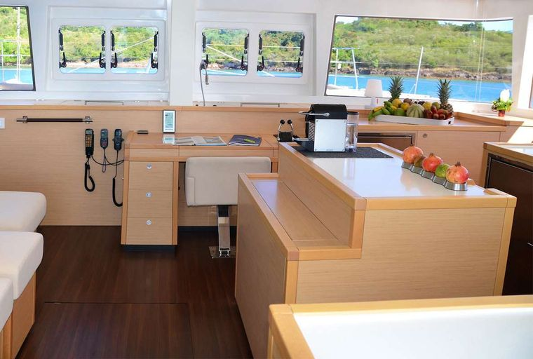 BACCHUS Yacht Charter - galley view