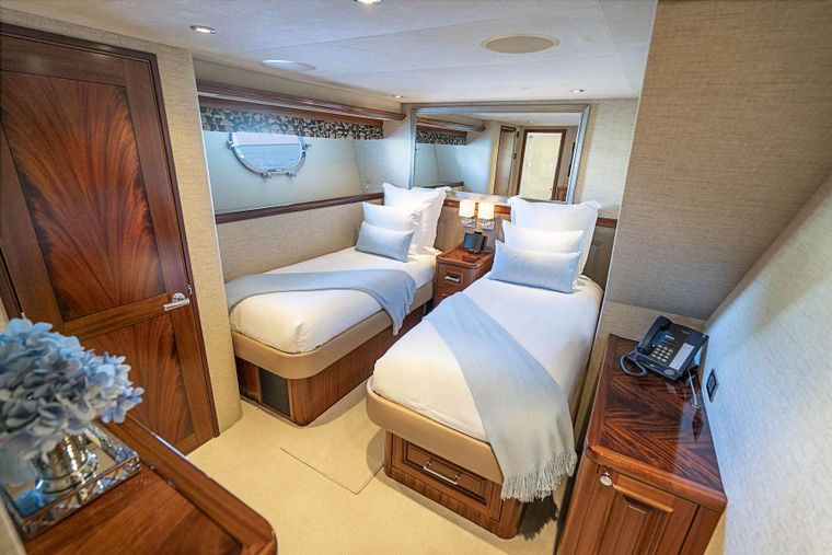 ANTARES Yacht Charter - Twin guest stateroom
