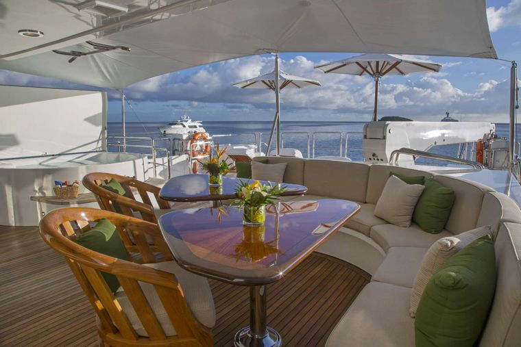 ANTARES Yacht Charter - Upper Deck seating
