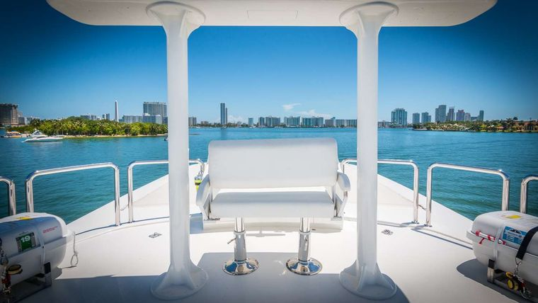Nirvana Yacht Charter - Top Deck (Tower View)