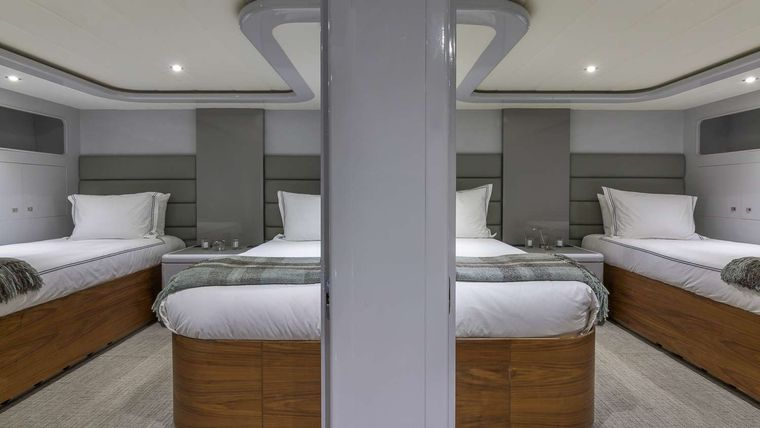 Nirvana Yacht Charter - Guest Staterooms