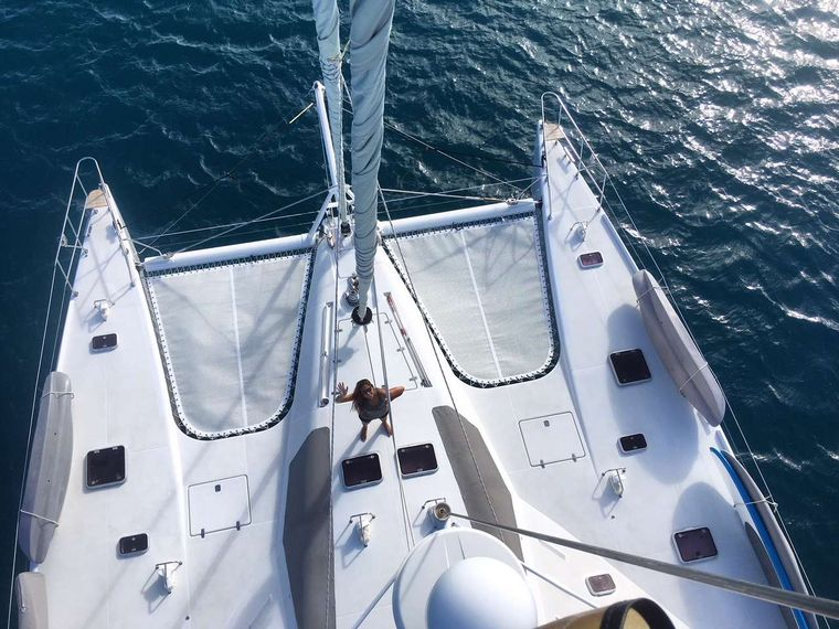 KELEA Yacht Charter - Foredeck from the masthead