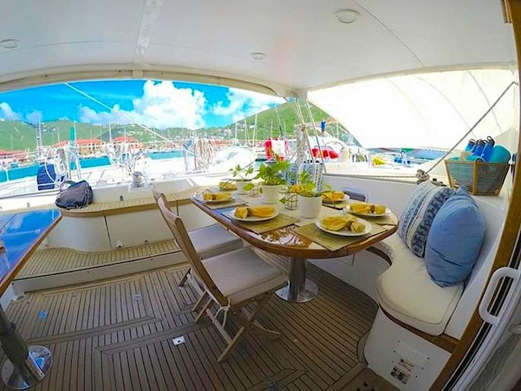 KELEA Yacht Charter - Cockpit dining and lounging