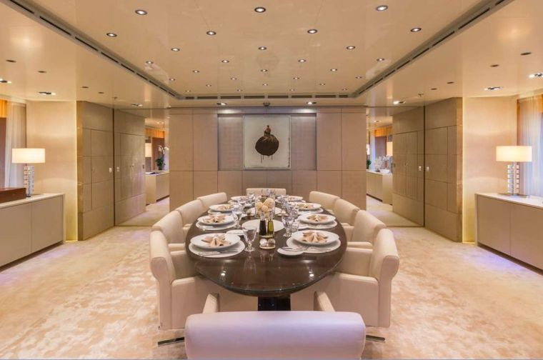 Icon Yacht Charter - Formal Dining