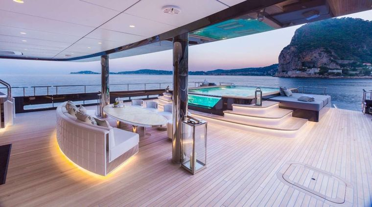 Icon Yacht Charter - Aft deck