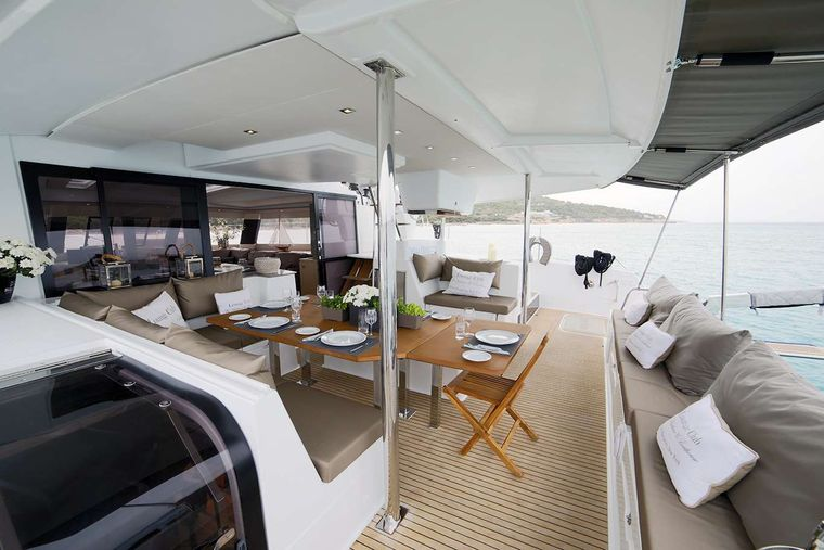 NEW HORIZONS 2 Yacht Charter - AFT DECK ANOTHER VIEW