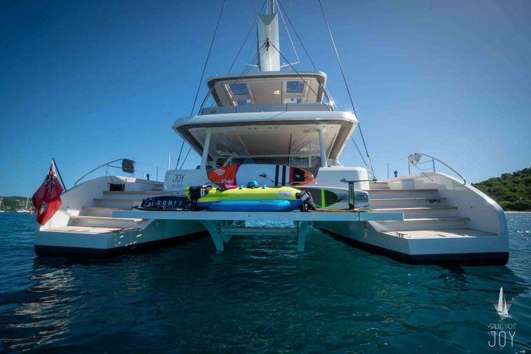 JOY Yacht Charter - Stern - Water toys