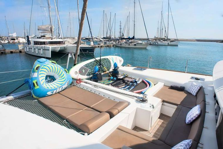NEW HORIZONS Yacht Charter - Forward Lounge and Water Toys