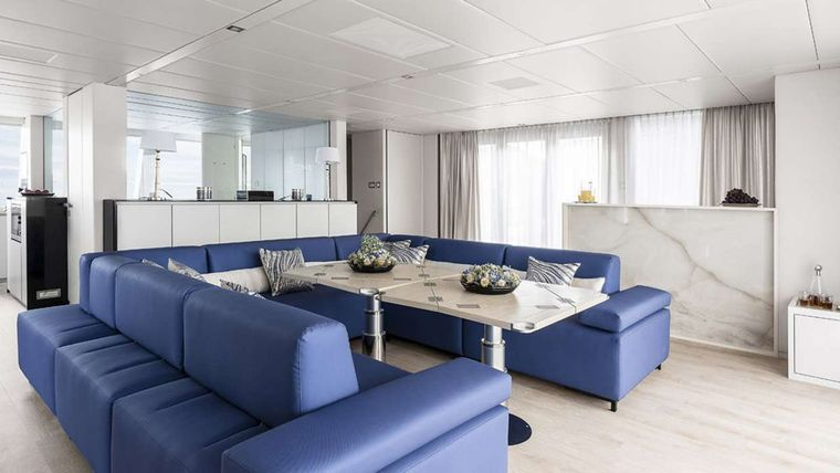 MAYRILOU Yacht Charter - Saloon converted onto dinning area