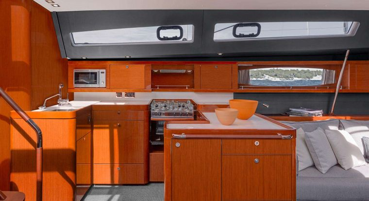 OCEAN STAR Yacht Charter - Galley area