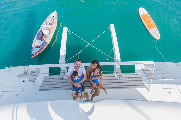 Blue Moon Yacht Charter - Aft deck and water toys