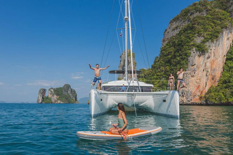 Blue Moon Yacht Charter - SUP and the yacht