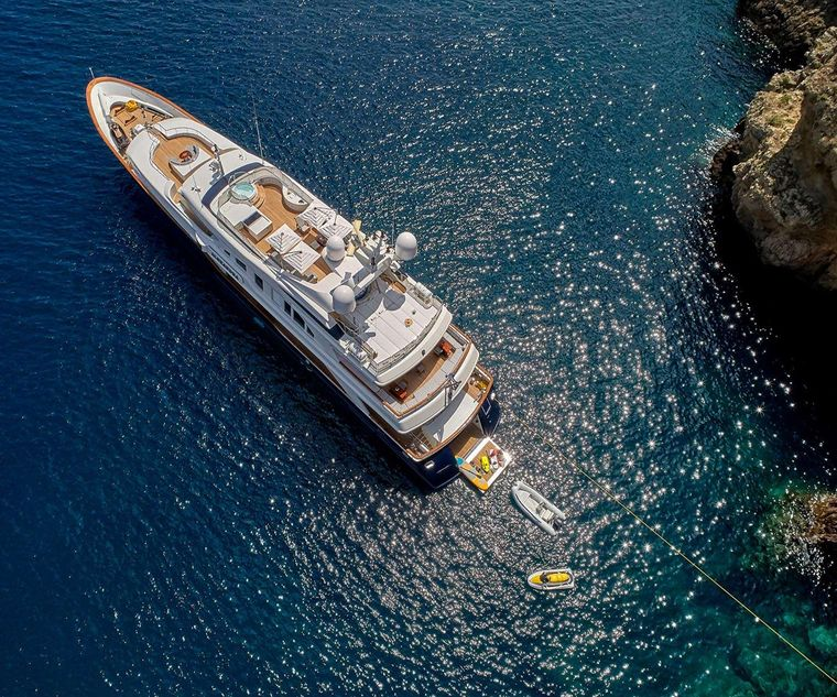 ALEXANDRA Yacht Charter - Aerial View of Exterior