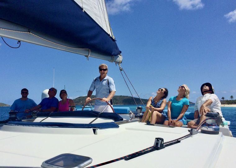 GAMBIT Yacht Charter - Flybridge seating to enjoy the view and the wind in your face