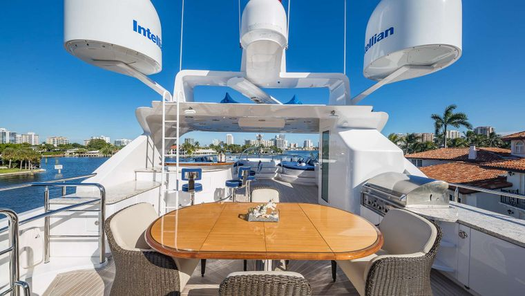 LADY LEILA Yacht Charter - Top deck