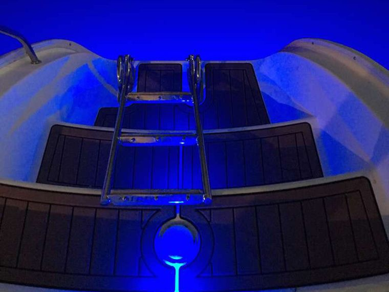 THE SPACE BETWEEN Yacht Charter - Blue underwater lights