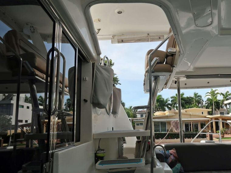 THE SPACE BETWEEN Yacht Charter - Rear Helm