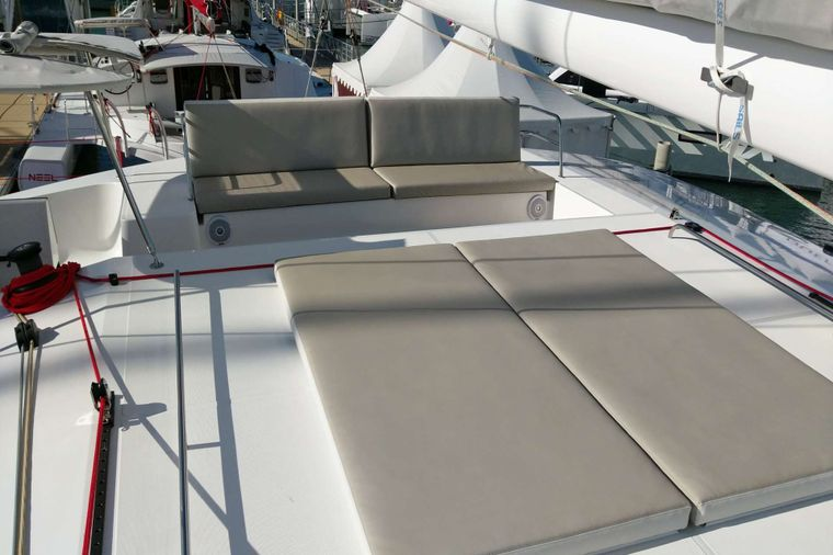 TRILOGY Yacht Charter - Sun Fly and Upper Seating Area