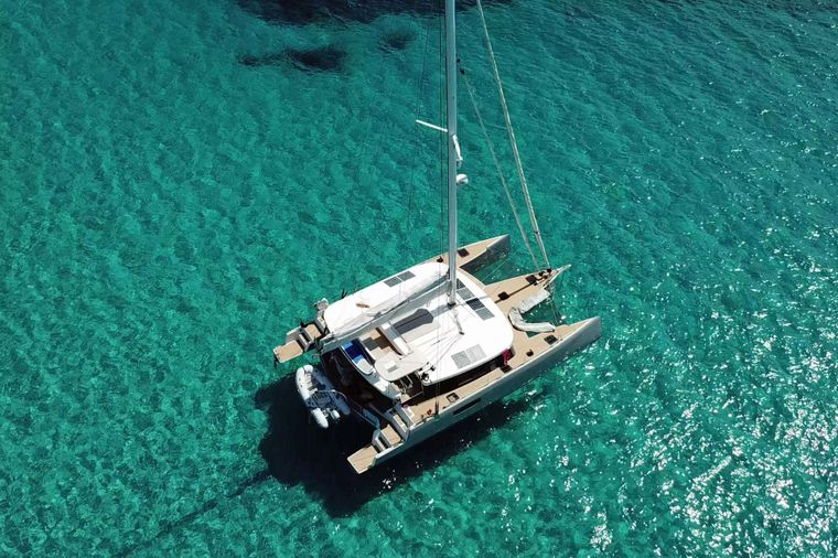 TRILOGY Yacht Charter - check out those trampolines!
