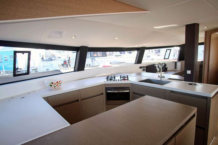 TRILOGY Yacht Charter - Spacious Galley