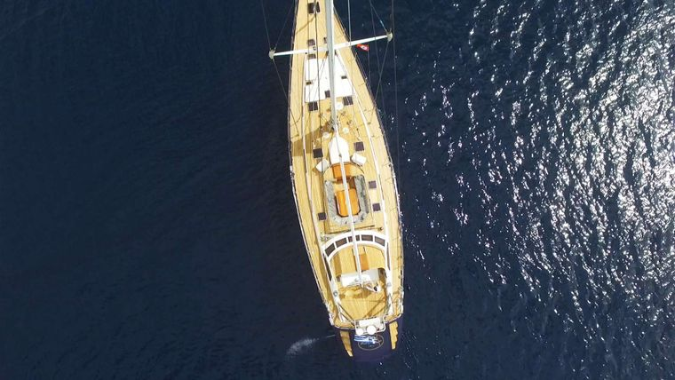 WIND OF CHANGE Yacht Charter - Arial view