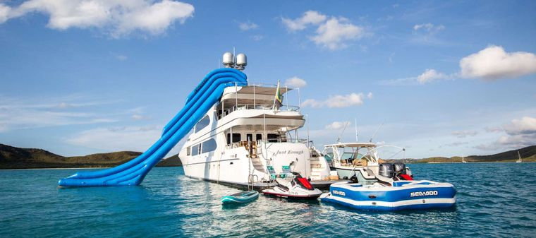 Just Enough Yacht Charter - Stern with Toys