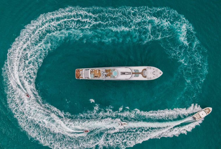 Just Enough Yacht Charter - Aerial View